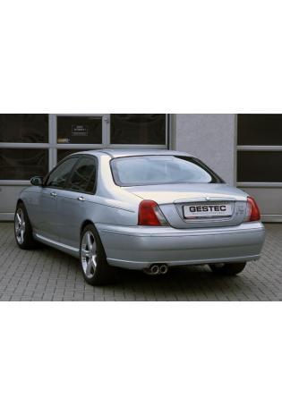 GESTEC Sportauspuff Endschalldämpfer 2x80mm rund schräg MG ZT190 Limousine 2.5l V6