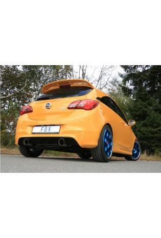 FOX Endschalldämpfer Sportauspuff duplex 1x100mm Typ 25 für Opel Corsa E OPC 1.6 Turbo 152 kW ab Bj. 2015