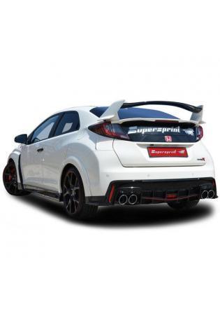 Supersprint Sportauspuff Komplettanlage mit Mittelschalldämpfer Ersatzrohr Honda Civic Type-R 2.0i Turbo Bj ab 2015