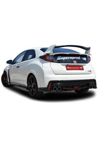 Supersprint Sportauspuff Komplettanlage für Honda Civic Type-R 2.0i Turbo Bj ab 2015