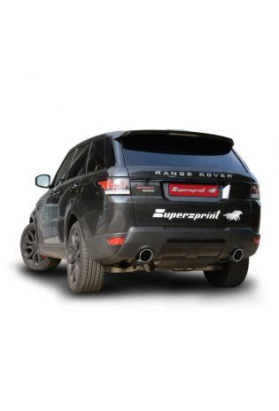 Supersprint Sportauspuff Komplettanlage re/li 120mm Range Rover Sport 5.0i V8 Supercharged Bj 13