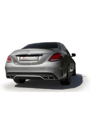 REMUS Edelstahl Cat-Back Anlage Sportschalldämpfer re/li 70mm Mercedes-Benz C-Klasse W205 C63 (S) AMG ab Bj. 2014