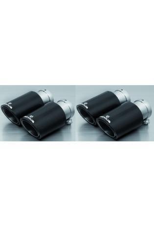 REMUS Endrohrset li/re je 2x84mm Carbon, schräg, Innenaufbau Titan Golf VII GTI / GTI Performance Typ AU