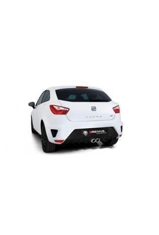 REMUS Racinganlage ab Kat. Sportauspuff mittig verchromt je 2x76mm Seat Ibiza 1.8 TSI Cupra ab Bj. 2016