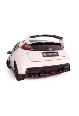 REMUS Duplex Komplettanlage ab Kat. für Rechtslenker Honda Civic IX 2.0i VTEC Type R ab Bj. 2015 310 PS je 2x102mm