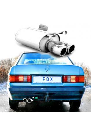 Fox Sportauspuff Endschalldämpfer Mercedes 190 W201  2x76mm Typ 16