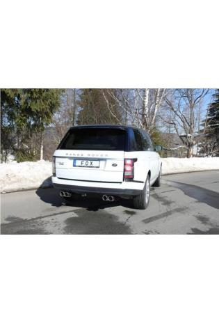 Fox Duplex Sportauspuff Endschalldämpfer Range Rover IV 4.4l SDV8 re/li je 2x90mm Typ 16
