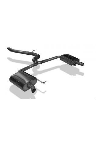FOX Duplex Endschalldämpfer Halbanlage Skoda Octavia 5E 2.0 TDI RS / TDI RS 4x4 ab Bj. 2014