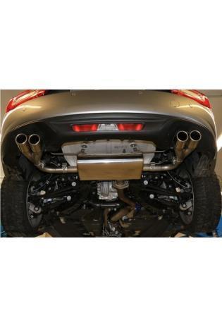 FOX Duplex Endschalldämpfer Sportauspuff 2x70mm Fiat 124 Spider 1.4 140 PS ab Bj. 2016