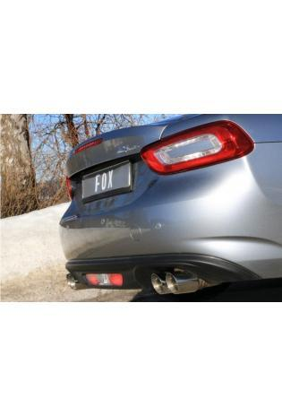 FOX Duplex Racing Komplettanlage ab Kat. 2x76mm Fiat 124 Spider