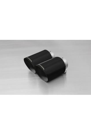 REMUS Endrohr-Set 2x115mm, schräg, Black Chrome, mit einstellbarem Kugelanschluss