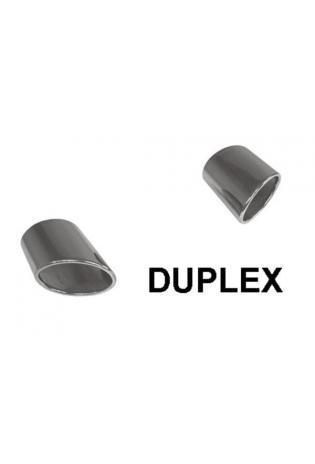 FOX Duplex Endschalldämpfer 2x115x85mm oval Hyundai Tucson Diesel 2.0 CRDI Allrad ab Bj. 2015