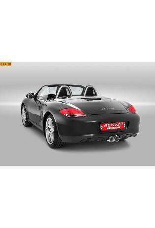 REMUS RACING Komplettanlage ab Vorkat verchromt Porsche Cayman/Cayman S/Boxster/Boxster S Bj. 2006-2009