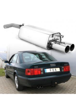 Fox Sportauspuff Endschalldämpfer Audi 100/A6 Typ C4 mit 2x76mm Typ 10