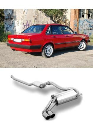 FOX Sportauspuff Anlage ab Kat. Audi 80 90 Typ 85 quattro 2x76 mm Typ 14