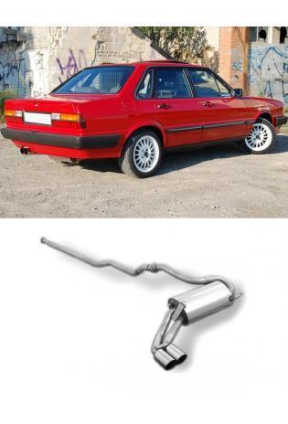 FOX Sportauspuff Racinganlage ab Kat. Audi 80 90 Typ 85 quattro 2x76mm Typ 14