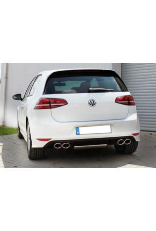 FOX Duplex Sportauspuff Racinganlage VW Golf VII 2.0l GTI mit R-Optik re/li - 2x115x85mm Typ 32