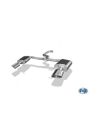 FOX Duplex Sportauspuff Endschalldämpfer Seat Leon 5F ST Cupra re/li je 160x90mm