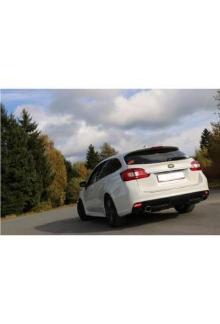 FOX Duplex Sportauspuff Endschalldämpfer Subaru Levorg re/li je 115x85mm Typ 44