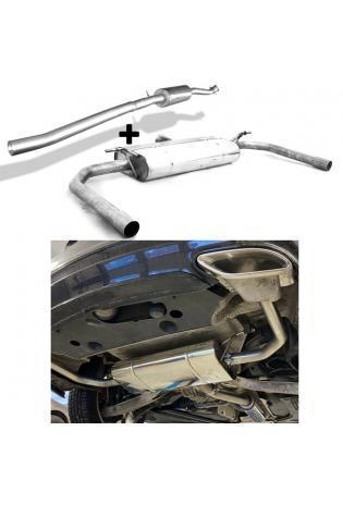 FOX Sportauspuff Komplettanlage ab Kat. Mercedes CLA 220 C117/ X117 4-matic re/li mit AMG45