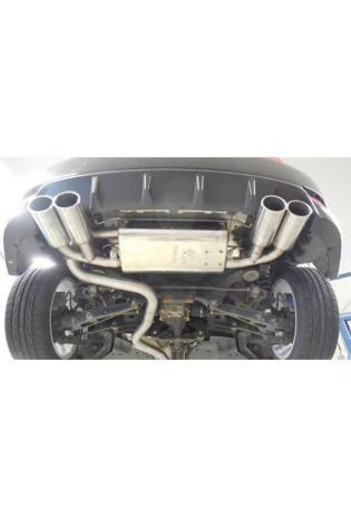 FOX Duplex Sportauspuff Komplettanlage ab Kat. Subaru Impreza GHD Schrägheck re/li je 2x100mm