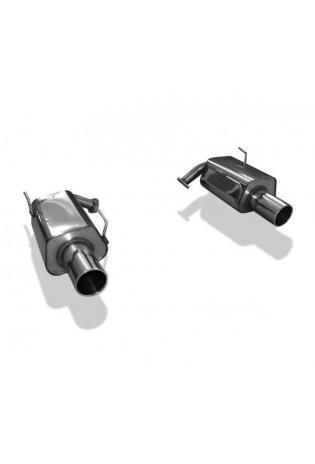 FOX Duplex Sportauspuff Endschalldämpfer Subaru Legacy V Station Wagon Typ BR re/li je 1x114mm Typ 12 ab Bj. 2013