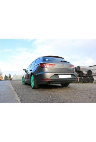 FOX Sportauspuff Endschalldämpfer Seat Leon 5F ST 2x90mm scharf