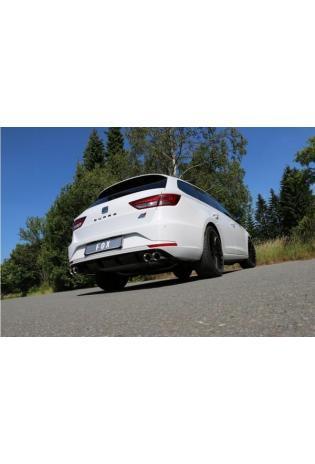 FOX Duplex Sportauspuff Komplettanlage ab Kat. Seat Leon 5F ST Cupra re/li je 2x80mm Typ 25