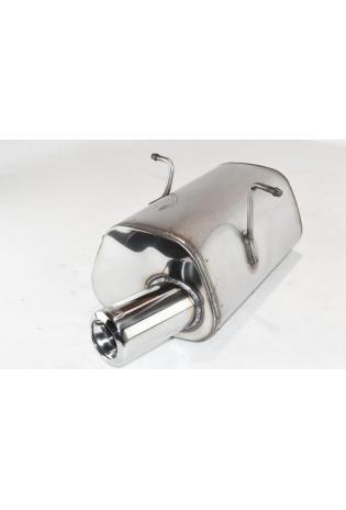 Ulter EDELSTAHL Sportauspuff Mini Cooper u. One R50 R53 Bj. 01-06 1.4l bis 1.6l 1 x 80mm eingerollt