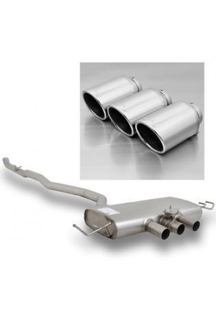 Remus Sportauspuff Anlage ab Kat. mit Klappe Honda Civic Type R mit 3 Endrohren Ø 102 mm