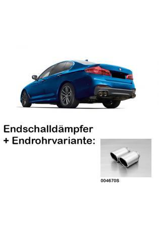 Remus Duplex Sportauspuff BMW 5er M550i xDrive G30 Limousine re/li je 2x102mm verchromt