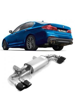Remus Duplex Sportauspuff BMW 5er M550i xDrive G30 Limousine Carbon re/li je 2x102mm