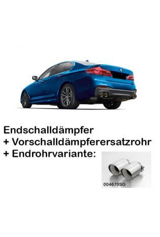 Remus Duplex Racing Anlage ab Kat. BMW 5er M550i xDrive G30 re/li je 2x102mm straight cut