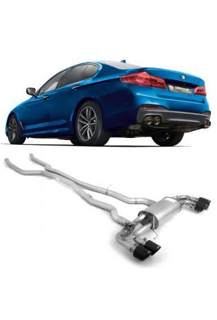 Remus Duplex Racing Anlage ab Kat. BMW 5er M550i xDrive G30 Carbon re/li je 2x102mm