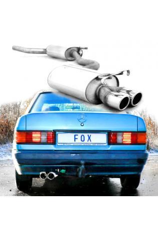 Fox Sportauspuff Komplettanlage ab Kat. Mercedes 190 W201 2x76mm Typ 16