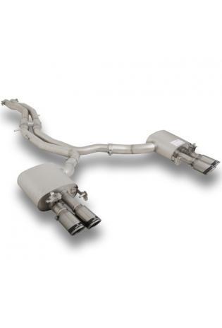 Remus Duplex Sportauspuff Komplettanlage ab Kat. AUDI RS5 Quattro + integr. Klappen 2x84mm Carbon Race