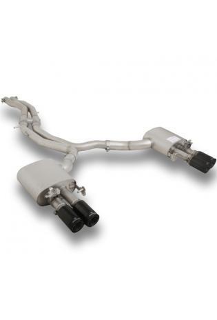 Remus Duplex Komplettanlage ab Kat. AUDI RS5 Quattro + integr. Klappen je 2x84mm Street Race Black