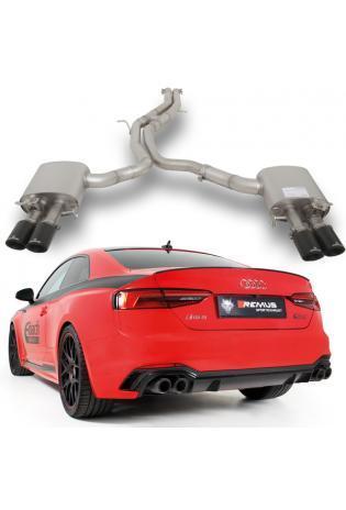 Remus Duplex Komplettanlage ab Kat. AUDI RS5 Quattro + integr. Klappen 2x84mm Carbon/Titan