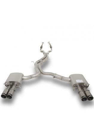 Remus Duplex Racinganlage inkl. Kat.-Ersatz AUDI RS5 Quattro mit integr. Klappen je 2x84mm Street Race