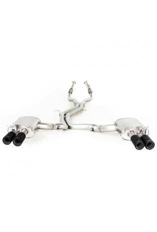 Remus Duplex Racinganlage inkl. Kat.-Ersatz AUDI RS5 Quattro mit integr. Klappen je 2x84mm Street Race Black