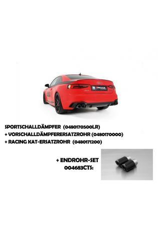 Remus Duplex Racinganlage inkl. Kat.-Ersatz AUDI RS5 Quattro mit integr. Klappen je 2x84mm Carbon Titan