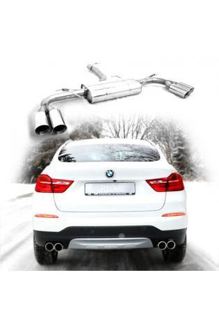 FOX Duplex Sportauspuff BMW X4 F26 20d 20i 28i 30d xDrive mit M-Paket re/li je 2x90mm