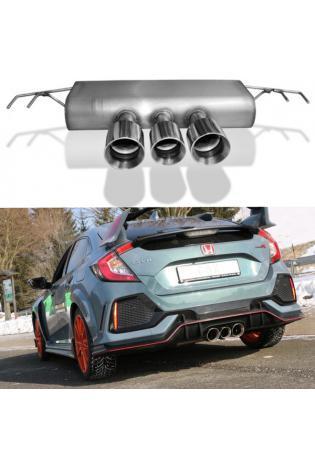 FOX Sportauspuff Honda Civic X Type R 3 Endrohre 100-90-100mm Typ 25