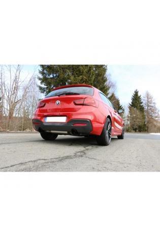 FOX Duplex Sportauspuff Racing Komplettanlage ab Kat. BMW 1er F20/F21 M140i re/li je 1x100mm Schwarz