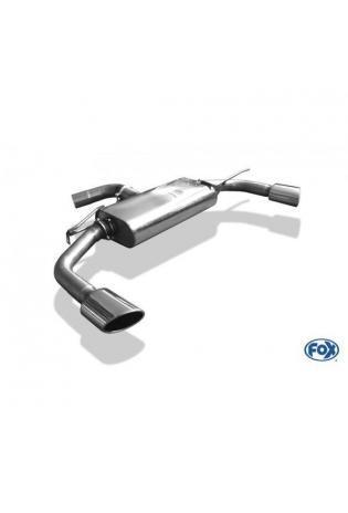 FOX Duplex Sportauspuff Racinganlage ab Kat. VW Beetle 1.4l 2.0l TDI (5C) Coupe & Cabrio Starre Hinterachse re/li je 115x85mm