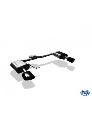 FOX Duplex Sportauspuff Komplettanlage ab Kat. Seat Leon 5F ST 4x4 Cupra 300 re/li je 160x90mm Typ 38 schwarz