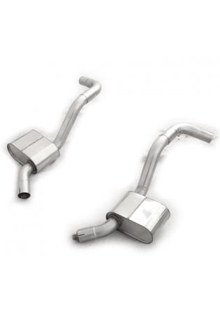 FOX Sportauspuff Mittelschalldämpfer Jaguar XK8/ XKR Typ QEV/ QDV  Coupe und Cabrio Ø63,5mm