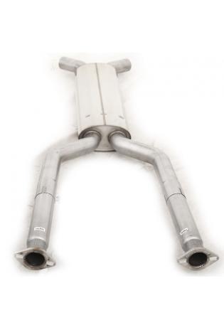 FOX Sportauspuff Vorschalldämpfer Jaguar XK8/ XKR Typ QEV/ QDV  Coupe und Cabrio Ø63,5mm