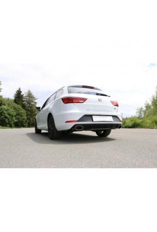 FOX Duplex Sportauspuff Racinganlage ab Kat. Seat Leon 5F ST Starre Hinterachse re/li je 160x90mm Typ 38