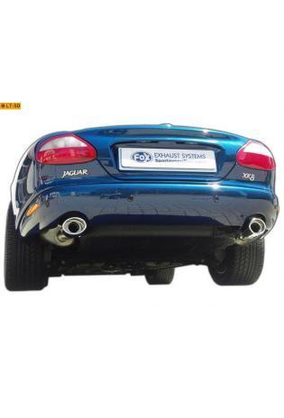 FOX Duplex Sportauspuff Komplettanlage ab Kat. Jaguar XK8/ XKR Typ QEV/ QDV  Coupe und Cabrio re/li je 1x115x85mm oval